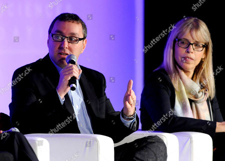 HOLLYWOOD, CA - MARCH 20: (L-R) EVP, Marketing, Comedy Central Walter Levitt and President, Animal Planet & Science Channel Marjorie Kaplan participate in The Art of the Show Launch: How to Break Through the Clutter portion of the 2012 TV Summit Presented by Variety and the Academy of Television Arts & Sciences Foundation at the Renaissance Hollywood Hotel on in Hollywood, California