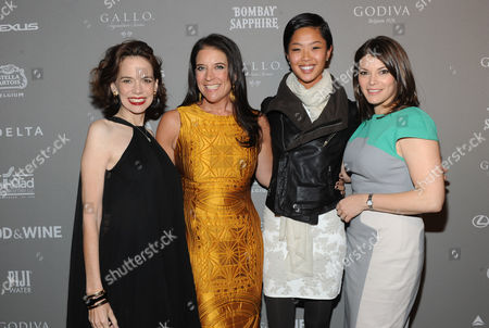 IMAGE DISTRIBUTED FOR FOOD & WINE - FOOD & WINE's Gail Simmons, right, editor in chief Dana Cowin, left, and publisher Christina Grdovic, second left, pose with Bravo's Top Chef Season 10 winner Kristen Kish at the 2013 FOOD & WINE Best New Chefs 25th anniversary celebration at Pranna on in New York City, New York