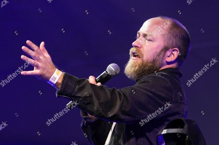 Kyle Kinane performs in the comedy tent during Fun Fun Fun Fest on in Austin, Texas