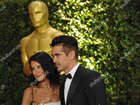 Colin Farrell and Claudine Farrell seen on the red carpet at the 2013 Board of Governors of the Academy of Motion Pictures Arts and Sciences' Governor Awards, on in Los Angeles