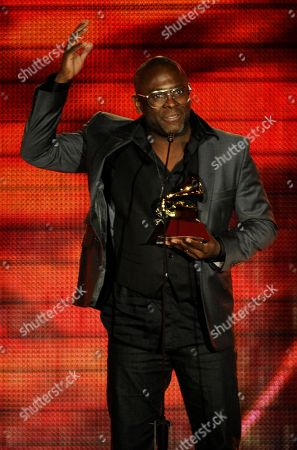 "Stock Picture of Kleber Lucas accepts the award for best christian album (Portugese language) for ""Profeta Da Esperanca"" at the 14th Annual Latin Grammy Awards at the Mandalay Bay Hotel and Casino, in Las Vegas"