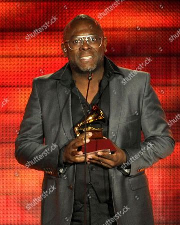"Kleber Lucas accepts the award for best christian album (Portugese language) for ""Profeta Da Esperanca"" at the 14th Annual Latin Grammy Awards at the Mandalay Bay Hotel and Casino, in Las Vegas"