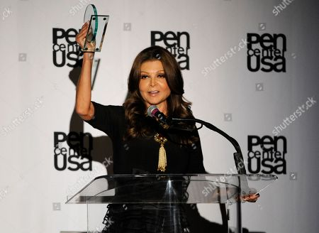 Stock Picture of Sonia Nassery Cole accepts the freedom to write award at the 23rd Annual Literary Awards at The Beverly Hills Hotel, in Beverly Hills, Calif