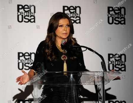 Stock Photo of Sonia Nassery Cole accepts the freedom to write award at the 23rd Annual Literary Awards at The Beverly Hills Hotel, in Beverly Hills, Calif