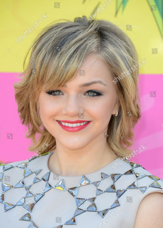 Stock Photo of Actress Oana Gregory arrives at the 26th annual Nickelodeon's Kids' Choice Awards, in Los Angeles