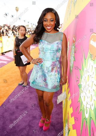 Stock Picture of Actress Tanya Chisholm arrives at the 26th annual Nickelodeon's Kids' Choice Awards, in Los Angeles
