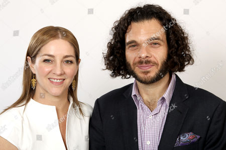 Oscar nominees Sean Fine, right, and Andrea Nix Fine pose for a portrait at the 2013 Oscar Nominee Luncheon, in Los Angeles