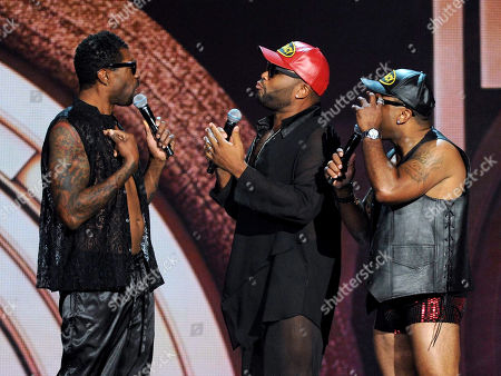 Stock Picture of From left, Deon Cole, Anthony Anderson and Carl Payne perform onstage at the 2013 Soul Train Awards at the Orleans Arena on in Las Vegas
