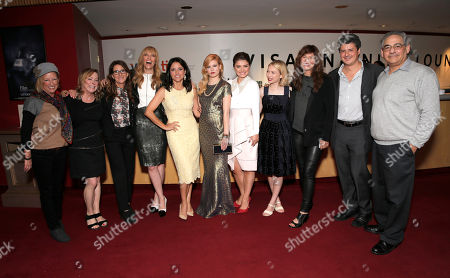 """Claudia Lewis, Nancy Utley, Nicole Holofcener, Toni Collette, Julia Louis Dreyfus, Tracey Fairaway, Eve Hewson, Tavi Gevinson, Catherine Keener, Anthony Bregman and Steve Gilula are seen at Fox Searchlight's Premiere of """"Enough Said"""", on Saturday, September 7th, 2013 in Toronto, Canada"""