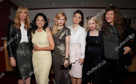 """IMAGE DISTRIBUTED FOR FOX SEARCHLIGHT - Toni Collette, Julia Louis Dreyfus, Tracey Fairaway, Eve Hewson, Tavi Gevinson and Catherine Keener are seen at Fox Searchlight's Premiere of """"Enough Said"""", on Saturday, September 7th, 2013 in Toronto, Canada"""