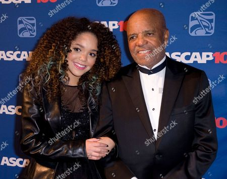 Berry Gordy and protege Jadagrace attend the 2014 ASCAP Centennial Awards, benefiting the ASCAP Foundation and its music education, talent development and humanitarian activities, at the Waldorf-Astoria, in New York
