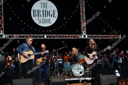 Pegi Young & The Survivors perform at the 2014 Bridge School Benefit at the Shoreline Amphitheatre in Mountain View California on