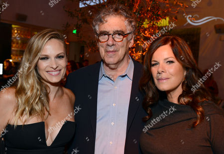 Vinessa Shaw and from left, Elliott Gould and Marcia Gay Harden attend Entertainment Weekly's Pre-Emmy Party sponsored by L'Oreal Paris and Hearts On Fire at Fig & Olive in West Hollywood, Calif. on
