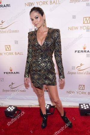 Lola Astanova attends the 20th Anniversary European School of Economics New York Ball benefit at Trump Tower, New York