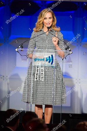 Chely Wright appears on stage at the GLAAD Media Awards on in New York