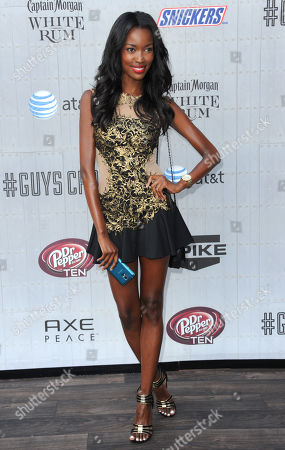 Stock Image of Tia Shipman arrives at the Guys Choice Awards at Sony Pictures Studios, in Culver City, Calif