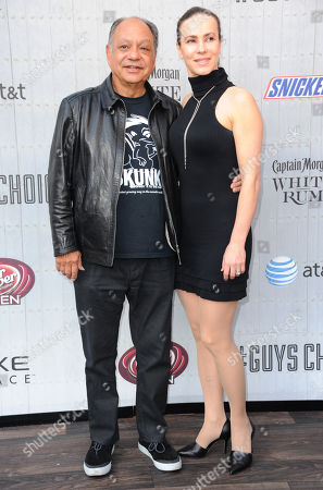 Cheech Marin, left, and Natasha Rubin arrive at the Guys Choice Awards at Sony Pictures Studios, in Culver City, Calif