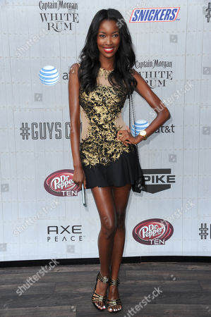 Stock Photo of Tia Shipman arrives at the Guys Choice Awards at Sony Pictures Studios, in Culver City, Calif