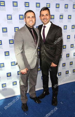 Jeff Zarrillo and Paul Katami arrive at the 2014 Human Rights Campaign Los Angeles Gala, on in Los Angeles, California