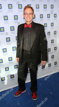 Stock Picture of Director Del Shores arrives at the 2014 Human Rights Campaign Los Angeles Gala, on in Los Angeles, California