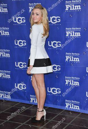 Peyton R. List arrives at 2014 Santa Barbara International Film Festival - Outstanding Performer of the Year award ceremony on Saturday, Feb, 1, 2014 in Los Angeles
