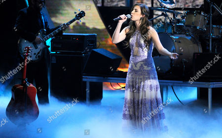Stock Photo of Mariana Vega performs at the 15th annual Latin Grammy Awards at the MGM Grand Garden Arena, in Las Vegas