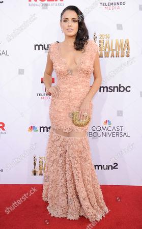 Vannessa Vasquez arrives at the NCLR ALMA Awards at the Pasadena Civic Auditorium, in Pasadena, Calif
