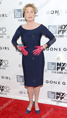 """Stock Photo of Lisa Banes arrives at 2014 NYFF - """"Gone Girl"""" opening night world premiere, in New York"""