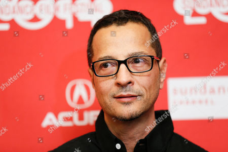 """Co-screenwriter Mauricio Zacharias poses at the premiere of the film """"Love is Strange"""" during the 2014 Sundance Film Festival, on in Park City, Utah"""