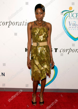 Stock Image of Fashion model Camilla Barungi attends the 2014 Women Who Care Benefit, in New York