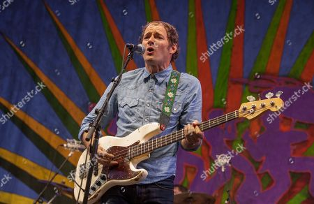 John Stirratt performs with Wilco at the New Orleans Jazz & Heritage Festival, on in New Orleans