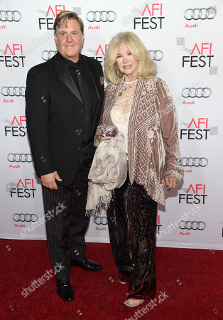"""Randy Spendlove, president, motion picture music, Paramount Pictures, left, and Connie Stevens arrive at the world premiere of """"The Big Short"""" during the AFI Fest at the TCL Chinese Theatre, in Los Angeles"""