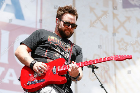 Zach Swon of The Swon Brothers performs at Riverfront Stage at the CMA Music Festival, in Nashville, Tenn