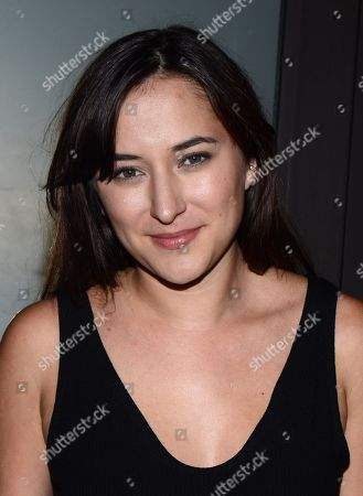 """Zelda Rae Williams arrives at the red carpet photocall for FOX International Studios' Comic-Con Party celebrating Robert Kirkman's new drama """"Outcast"""" at Andaz Hotel San Diego on in San Diego, Calif"""