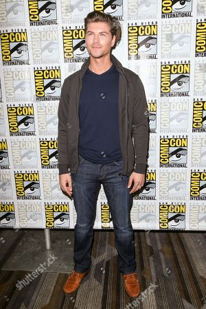 """Amadeus Serafini attends the """"Scream"""" press line on day 2 of Comic-Con International, in San Diego"""