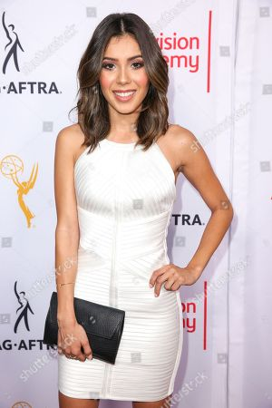 Ashley Campuzano arrives at the 2015 Dynamic and Diverse Emmy Celebration at the Montage Hotel, in Beverly Hills, Calif