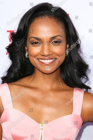 Mekia Cox arrives at the 2015 Dynamic and Diverse Emmy Celebration at the Montage Hotel, in Beverly Hills, Calif