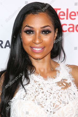 Karlie Redd arrives at the 2015 Dynamic and Diverse Emmy Celebration at the Montage Hotel, in Beverly Hills, Calif