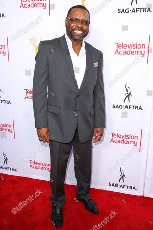 Petri Hawkins-Byrd arrives at the 2015 Dynamic and Diverse Emmy Celebration at the Montage Hotel, in Beverly Hills, Calif