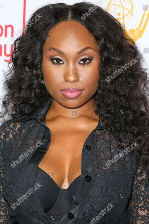 Angell Conwell arrives at the 2015 Dynamic and Diverse Emmy Celebration at the Montage Hotel, in Beverly Hills, Calif