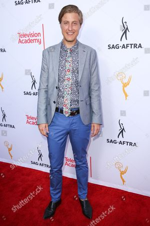 Scott Turner Schofield arrives at the 2015 Dynamic and Diverse Emmy Celebration at the Montage Hotel, in Beverly Hills, Calif