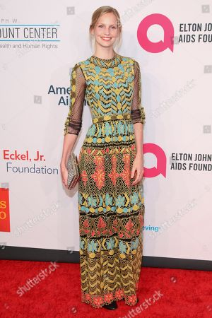 """Stock Picture of Katrin Thormann attends the Elton John AIDS Foundation's 14th Annual """"An Enduring Vision"""" Benefit at Cipriani Wall Street, in New York"""