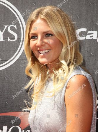 Surfer Stephanie Gilmore arrives at the ESPY Awards at the Microsoft Theater, in Los Angeles