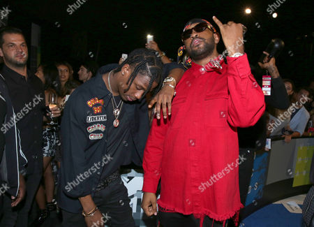 A$SAP Rocky, left, and Mike Will Made It arrive at the MTV Video Music Awards at the Microsoft Theater, in Los Angeles