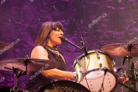 Janet Weiss of Sleater-Kinney seen at the 2015 Pitchfork Music Festival, on in Chicago
