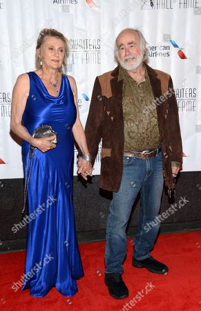Robert Hunter, right, attends the 46th Annual Songwriters Hall Of Fame Induction and Awards Gala at the Marriott Marquis, in New York