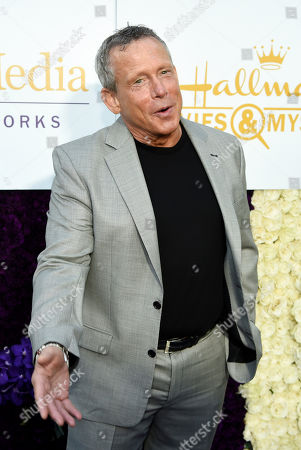 Stock Picture of Actor Willie Aames poses at the Crown Media Family Networks Television Critics Association party, in Beverly Hills, Calif