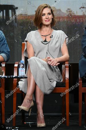 """Daisy Betts participates in the """"Childhood's End"""" panel at the NBCUniversal Television Critics Association Summer Tour at the Beverly Hilton Hotel, in Beverly Hills, Calif"""