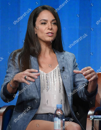 """Stock Picture of Actor/executive producer Michele Lepe participates in the Sprout network's """"Nina's World"""" panel at the NBCUniversal Television Critics Association Summer Tour at the Beverly Hilton Hotel, in Beverly Hills, Calif"""