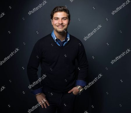 """Luke Bilyk poses for a portrait to promote the film, """"Hellions"""", at the Eddie Bauer Adventure House during the Sundance Film Festival, in Park City, Utah"""
